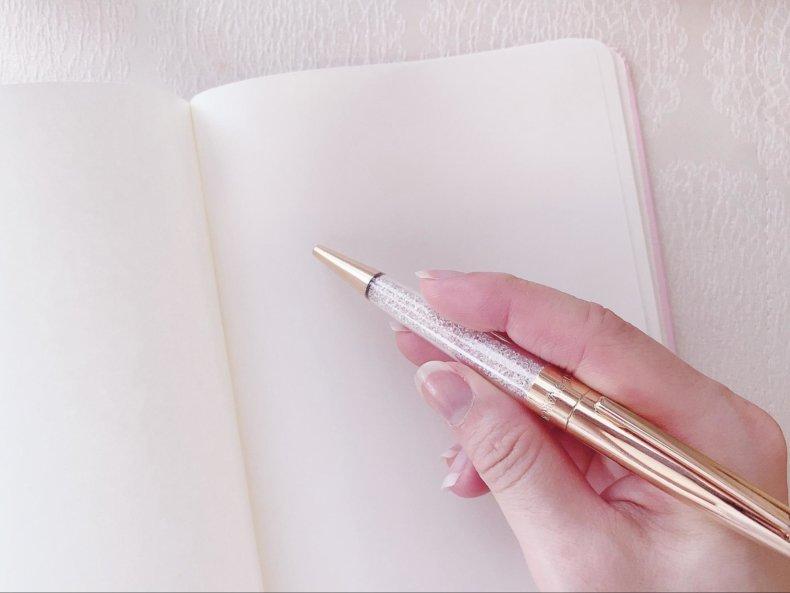 スワロフスキーボールペンを替え芯でジェットストリームに♡可愛くて書きやすくて最高!